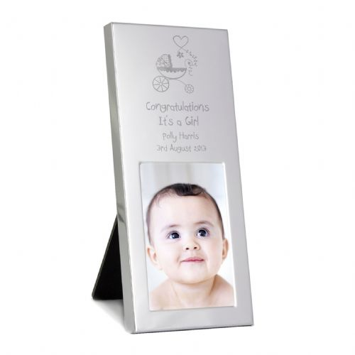 Personalised Pram Small Silver 2x3 Frame